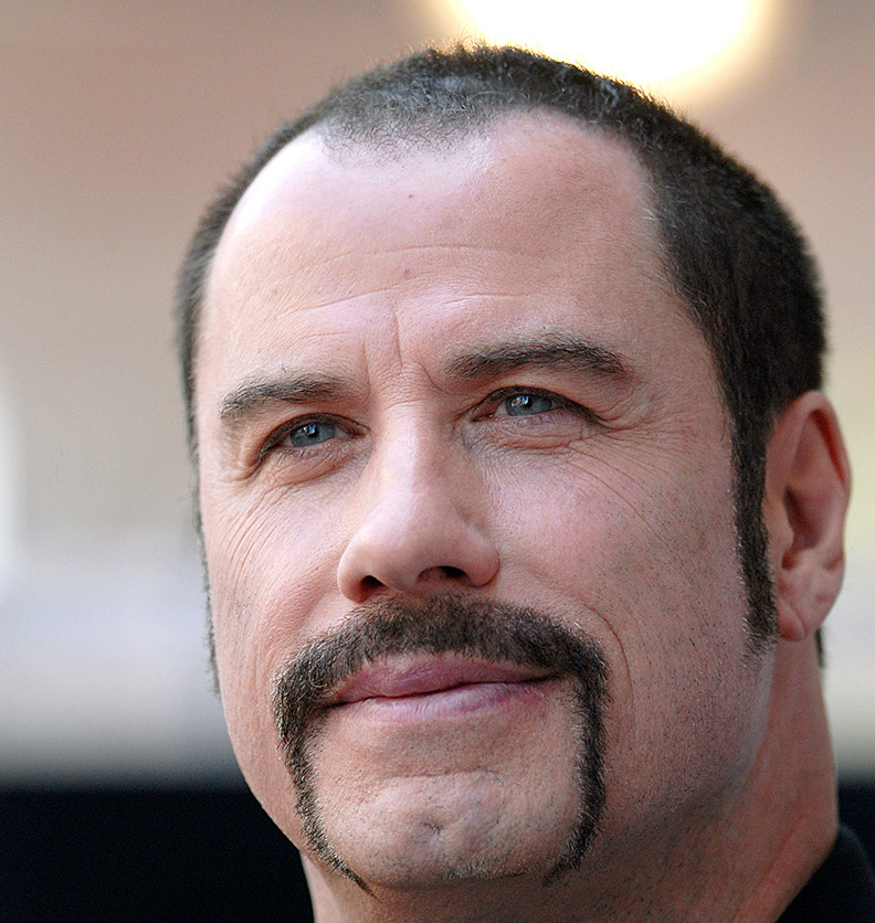 Travolta with a moustache